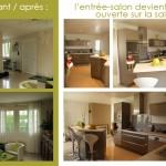 réaménagement d'un espace: déplacer la cuisine et créer une nouvelle salle de bain